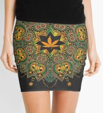Rasta Ganja Mandala Mini Skirt