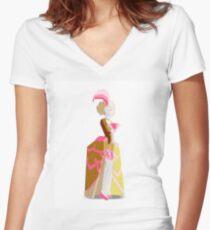 Marie Antoinette Cupcake Women's Fitted V-Neck T-Shirt
