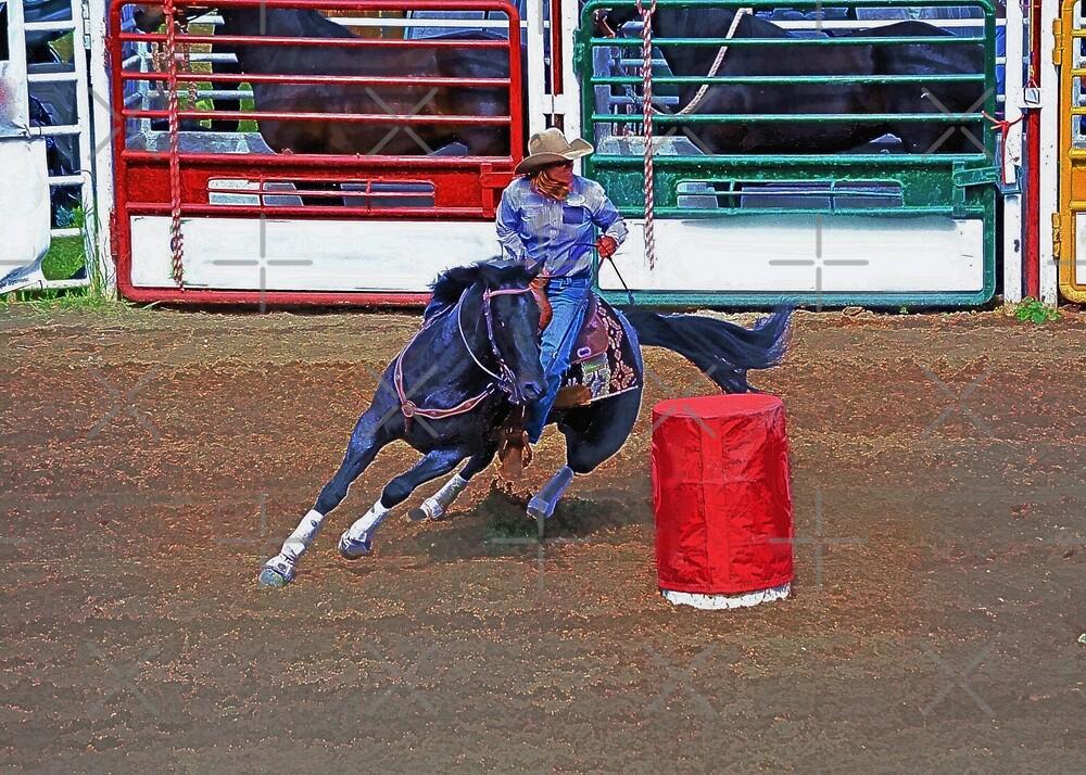 Rodeo Cowgirl Barrel-Racing by Skye Ryan-Evans