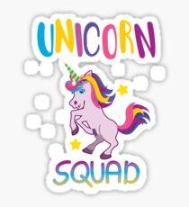 Unicorn Squad Birthday  Sticker