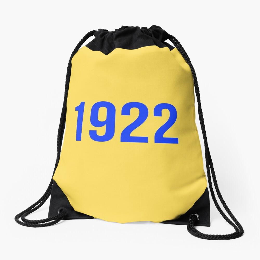 1922 Gold Drawstring Bag Front