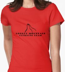 Lonely Mountain Climbing Team Womens Fitted T-Shirt