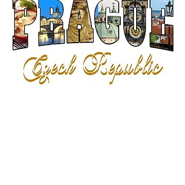 Copy of Prague Czech Republic Souvenir Vacation Tee Shirt Gift by techman516