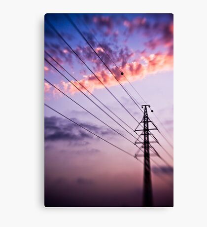 electricity of evening Canvas Print