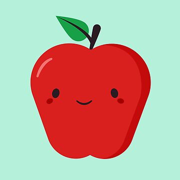 Red Apple Is Cute and Kawaii by happinessinatee