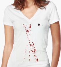 Blood Spatter 4 Women's Fitted V-Neck T-Shirt