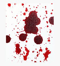 Blood Spatter Knife Drip Photographic Print