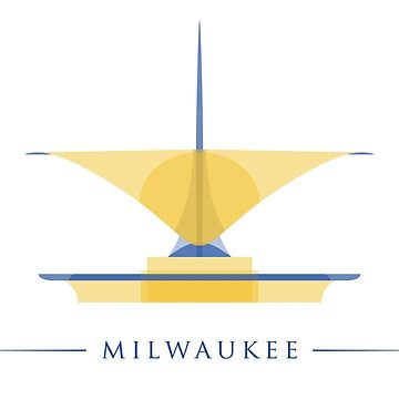 Milwaukee Art Museum - Blue and Yellow Polygonal by abowersock