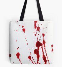 Blood Spatter Knife Cast Off Tote Bag