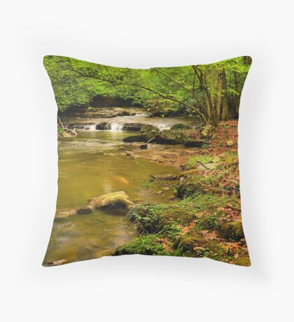 Glady Creek Foliage Throw Pillow