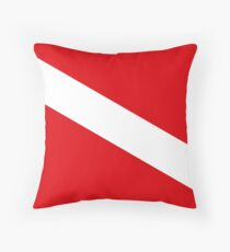 Scuba Diving Flag Throw Pillow
