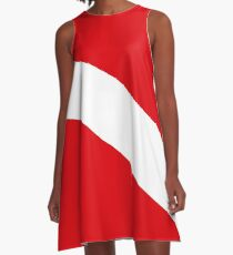 Scuba Diving Flag A-Line Dress