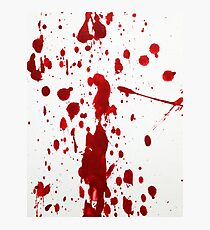 Blood Spatter 12 Photographic Print