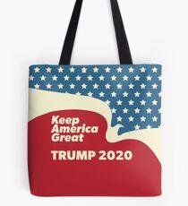 Keep America Great - Trump 2020 American Eagle Flying Tote Bag