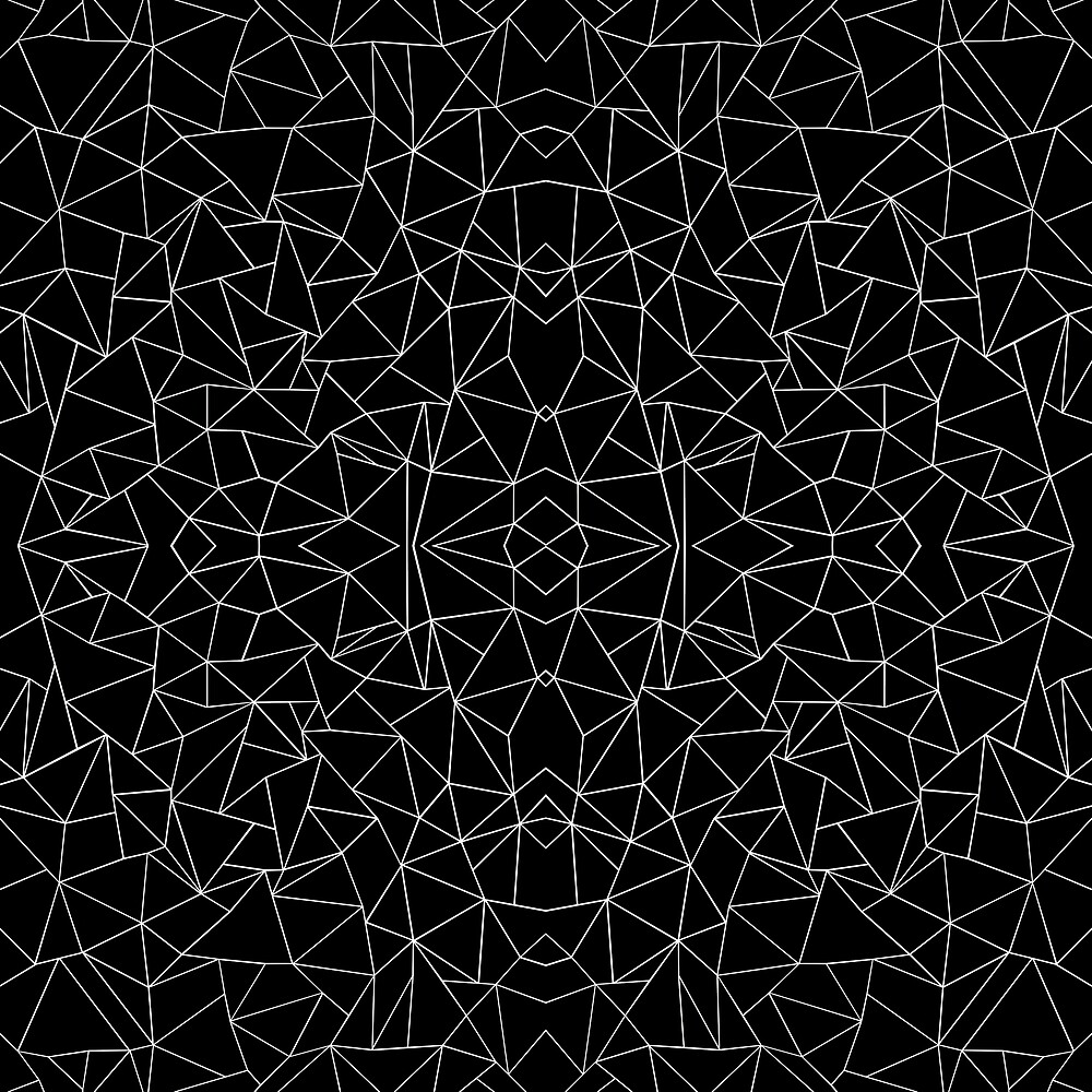 Abstract Collide White on Black by ProjectM