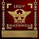 Eagle over Red Standard of the Fifth Macedonian Legion - Vexillum of Legio V Macedonica by Serge Averbukh