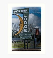moon winx lodge Art Print
