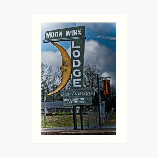 moon winx lodge Art Print