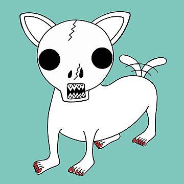 Skull Chihuahua pattern by RYURAKUDO