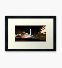 streaking down the strip - las vegas Framed Print