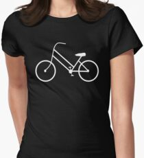 Women's Bicycle in White Womens Fitted T-Shirt