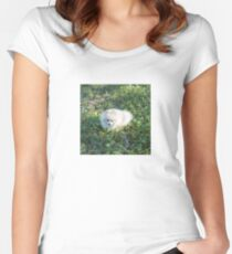 Giant peaceful marshmallow Women's Fitted Scoop T-Shirt