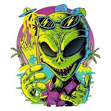 Alien Summer Vibes de quilimostock