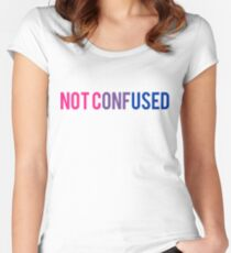 Bisexual NOT CONFUSED  Women's Fitted Scoop T-Shirt