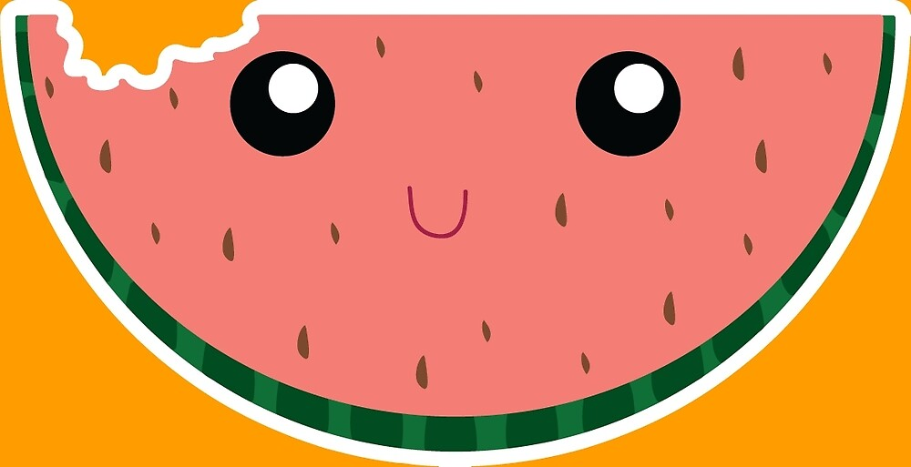 Happy Little Watermelon c: by graphicsadam