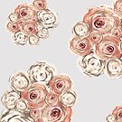 Beige and pink flowers 2 by mjvision Mia Niemi by mjvisiondesign