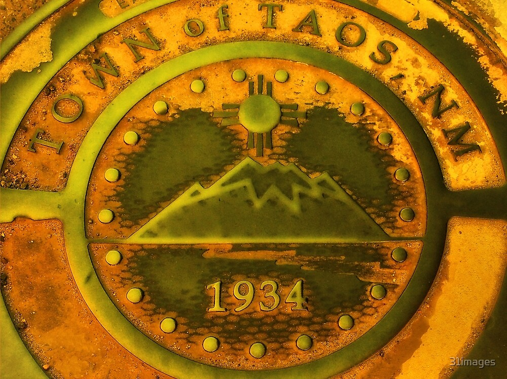 Town of Taos New Mexico 1934 Emblem by 31images