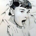 Audrey Hepburn (in Roman Holiday) by Antonio  Luppino