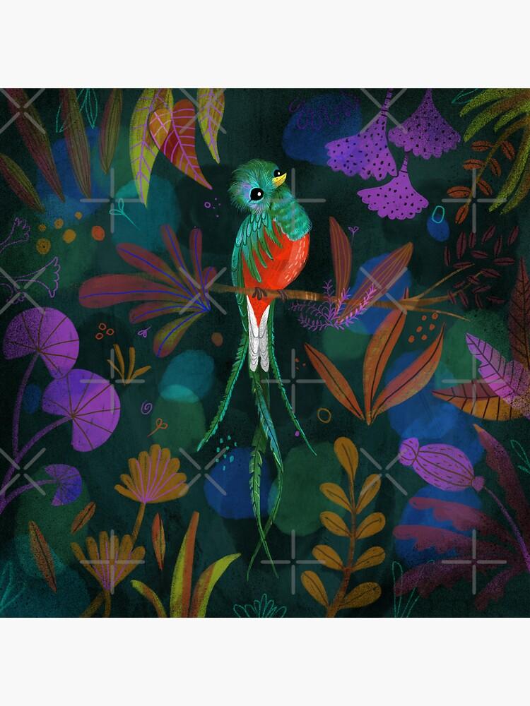 Fehérlólánya - Glowing Birds / Quetzal by ManzardCafe