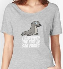 I survived the fire in Sea Parks Women's Relaxed Fit T-Shirt