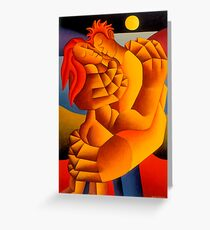The Lovers By Moonlight Greeting Card