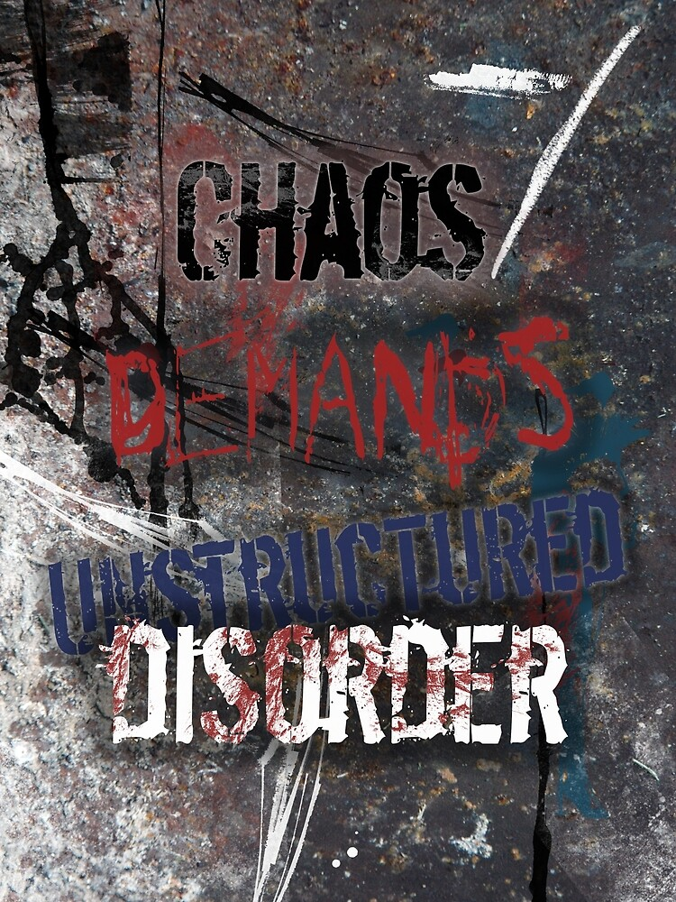 Chaos Demands Unstructured Disorder by Marc Bublitz
