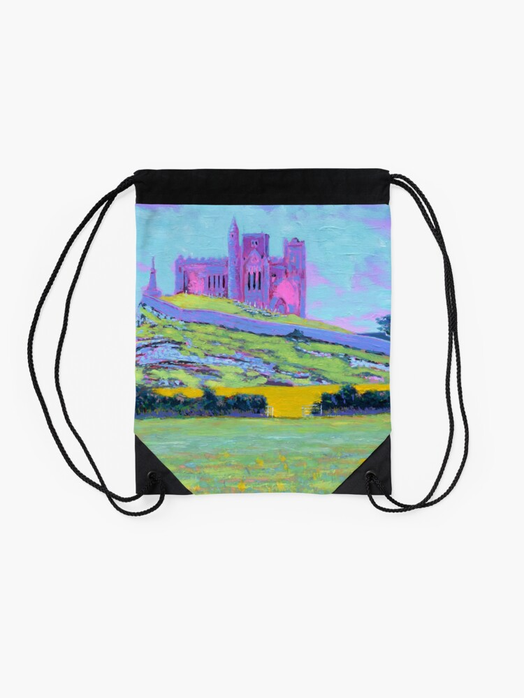 Alternate view of The Rock of Cashel III (Tipperary, Ireland) Drawstring Bag