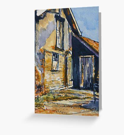 Rural farm, Tuscany. Watercolour. Framed. 32x23cm Greeting Card