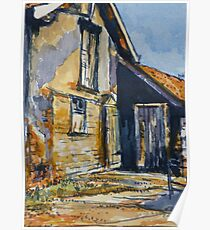 Rural farm, Tuscany. Watercolour. Framed. 32x23cm Poster