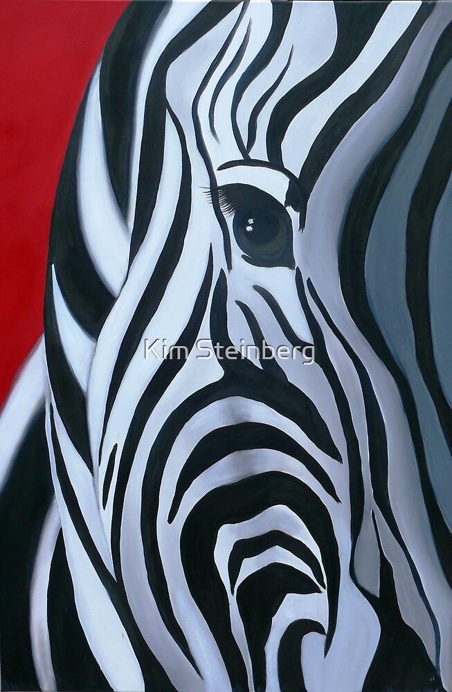 Retro Zebra by Kim Steinberg
