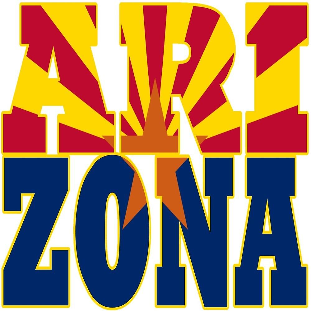 Arizona state flag  by oconnart