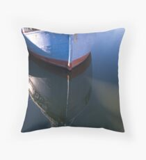Bow on water reflection Throw Pillow