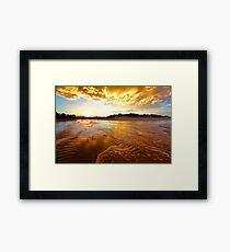 Golden Tide Framed Print