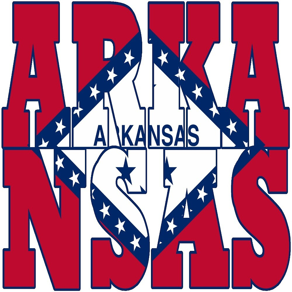 Arkansas state flag typography by oconnart