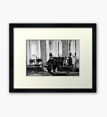 Bill and his dog Ted. Framed Print
