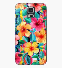 OTT Maximalist Hawaiian Hibiscus Floral with Stripes Case/Skin for Samsung Galaxy
