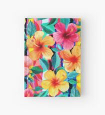 OTT Maximalist Hawaiian Hibiscus Floral with Stripes Hardcover Journal