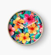 OTT Maximalist Hawaiian Hibiscus Floral mit Streifen Uhr