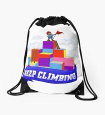 Keep Climbing Drawstring Bag