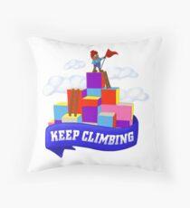 Keep Climbing Floor Pillow